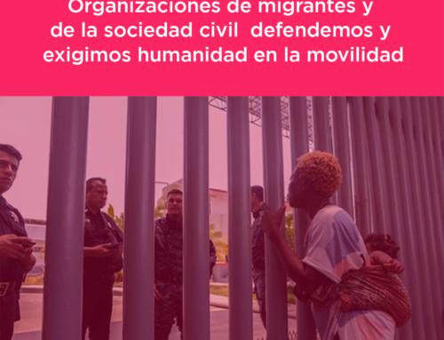Defendemos y exigimos humanidad en la movilidad
