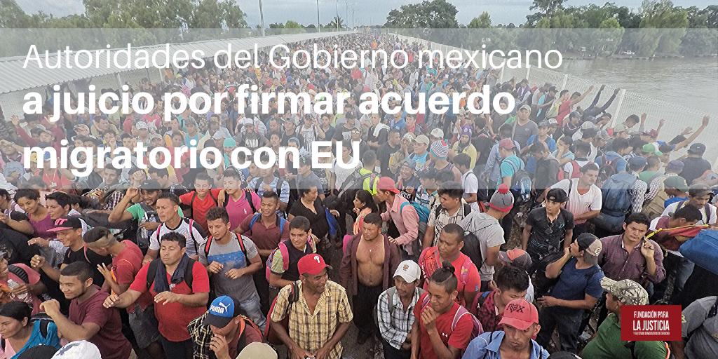 Gobierno mexicano a juicio por acuerdo migratorio