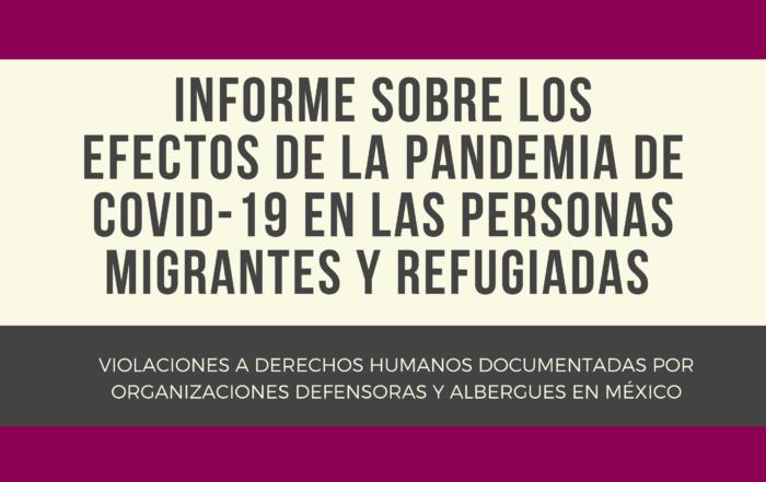 Informe Migración y Covid